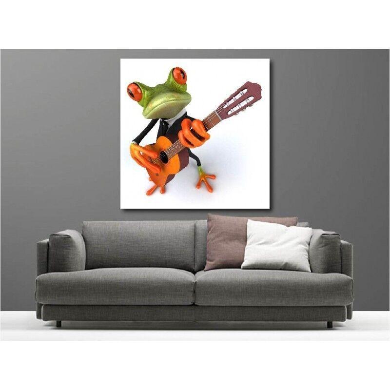 Gemälde Stoff Deko Quadratisch Frosch 6084552