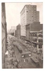 Postcard-WA-Seattle-Second-Avenue-Downtown-View-RPPC-Reid-Real-Photo-c1907