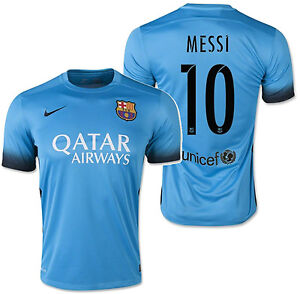 buy online 108d0 bbc94 Details about NIKE LIONEL MESSI FC BARCELONA THIRD NIGHT RISING JERSEY  2015/16.