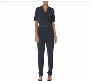 Jumpsuit Navy manica Surplice Collo Metaphor Medium corta dXIw6q
