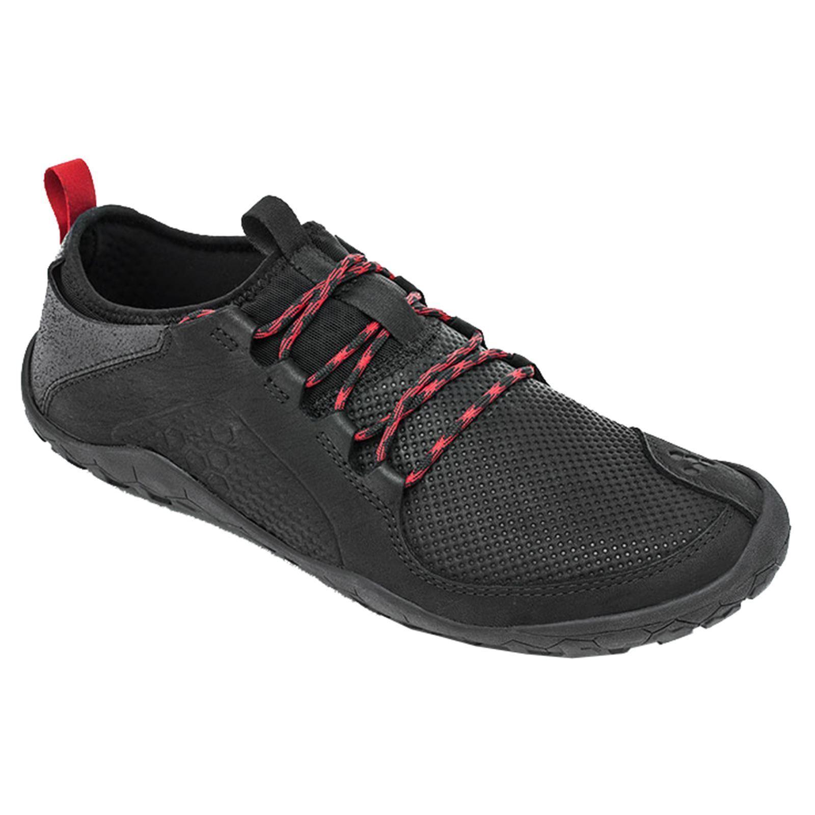 Vivobarefoot Primus Trek gli uomini uomini uomini neri in pelle mesh Low-Top Escursionismo Trekking Scarpe Da Ginnastica 32fced