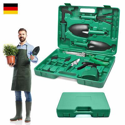 Gartenwerkzeug Set mit Koffer Ergonomische Anti-Rutsch-Griff f/ür Garten Balkon Gr/ün UISEBRT 10 St/ück Gartenger/äte Set