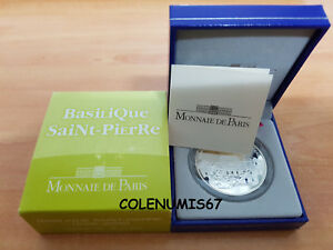 Actif 1,50 Euro Francia France Frankreich 2006 - Basilique Saint-pierre - Plata Silver Finement Traité