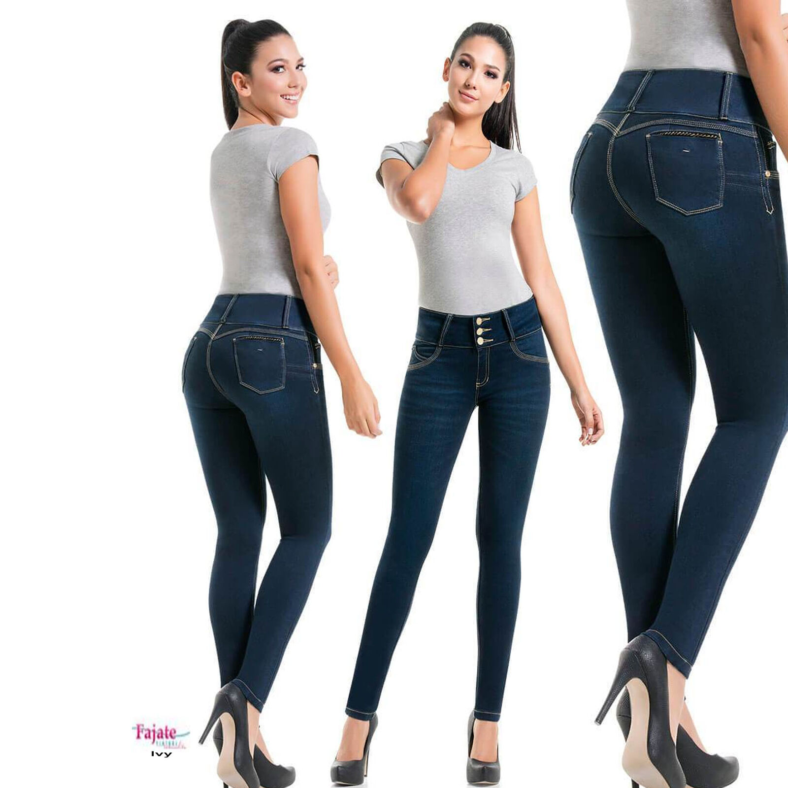 Fajas Colombian Push Up Jeans Butt Lifter Jeans Levanta Cola High Waist Slimming