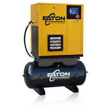 75 Hp Rotary Screw Air Compressor With 60 Gallon Tank Single Phase Fixed Speed