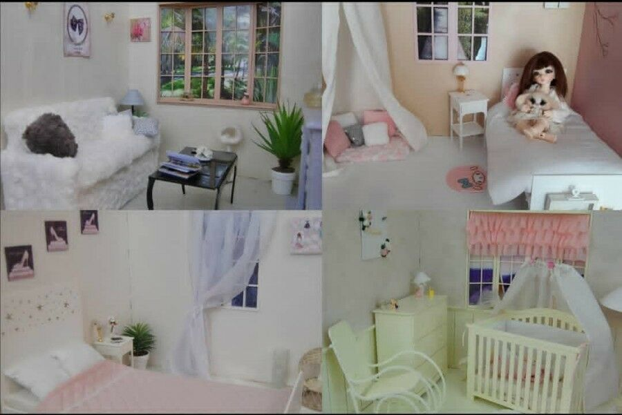Diorama background doll  1 4 pour BJD, minifee MSD, ellowynn wilde, Tonner
