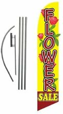 Flower Sale Advertising Feather Banner Swooper Flag Sign With Flag Pole Kit