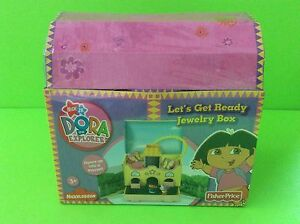 Dora the Explorer Lets Get Ready Jewelry Box Boots Nick Jr Fisher