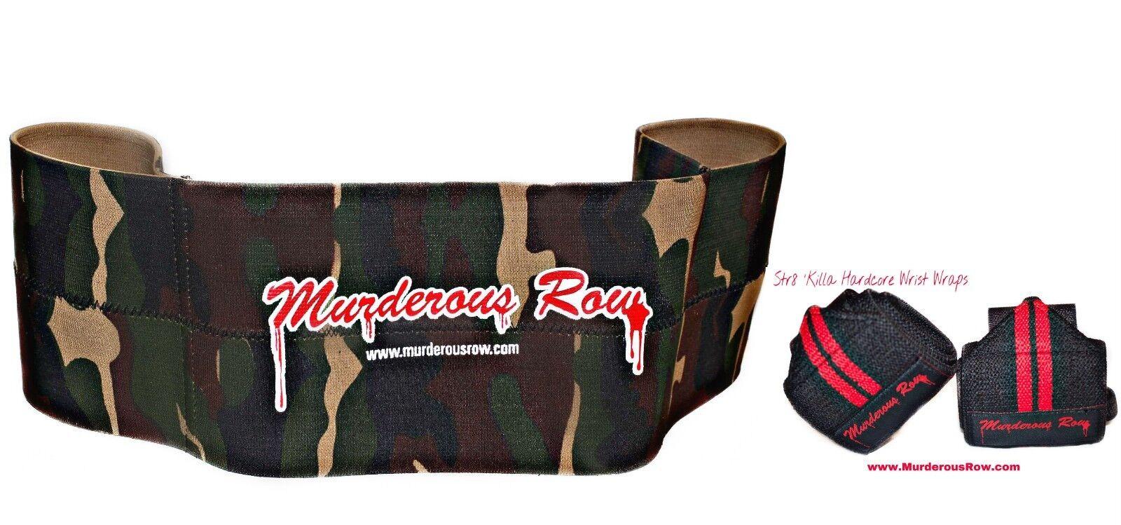 Murderous Row Bench Press  Sling Shot Desert Storm (XL) + STR8 'KILLA Wrist Wraps  store sale outlet
