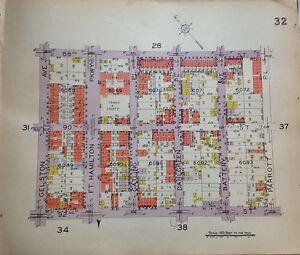 1929 BELCHER HYDE BAY RIDGE FT. HAMILTON GELSTON-PARROTT BROOKLYN NY ATLAS MAP