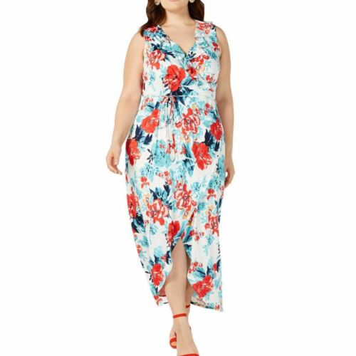 LOVE SQUARED Women/'s Plus Size Floral High-low Maxi Dress TEDO