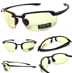 0580b2555ef4 Image is loading Anti-Reflective-Pro-Computer-Rimless-Glasses-Sunglasses- Block-