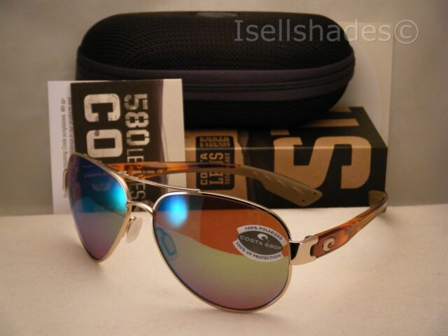 20889185a41 Costa South Point Rose Gold w Light Tortoise Temples w Green 580P (SO84 OGMP