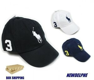 Image is loading NWT-POLO-RALPH-LAUREN-Big-Pony-Baseball-Cap-
