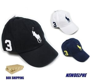 e25a3f9d1bd NWT POLO RALPH LAUREN Big Pony Baseball Cap Hat -Box Shipping for ...