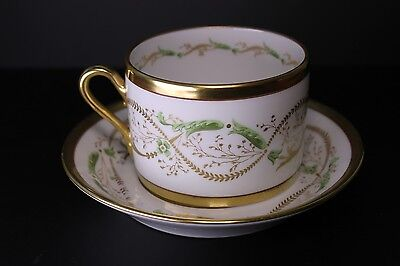Richard Ginori Porcelain La Scala Cup and Saucer - Amazing Condition!
