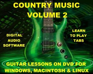 Country-Music-Vol-2-3616-Guitar-Tabs-Software-Lesson-CD-amp-702-Backing-Tracks