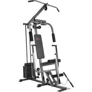 Kraftstation-Fitnessstation-Heimtrainer-Fitnesscenter-Bankdrueckmodul-Latzug-Dip