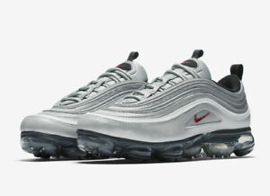 614c9c5f8a Nike Air Vapormax '97 Silver Bullet Size 8.5-13 Metallic Varsity Red ...