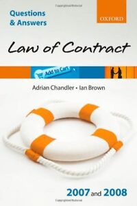 Details about Q and A: Law of Contract 2007 - 2008 (Blackstone's Law  Questions and Answers) B