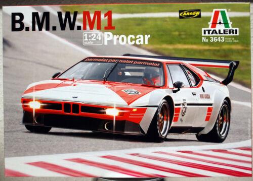 1979 BMW M1 Procar Niki Lauda 1:24 Italeri 3643 wieder neu 2020