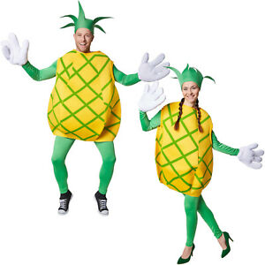 kost m ananas unisex halloween karneval fasching damen herren obst frucht ebay. Black Bedroom Furniture Sets. Home Design Ideas