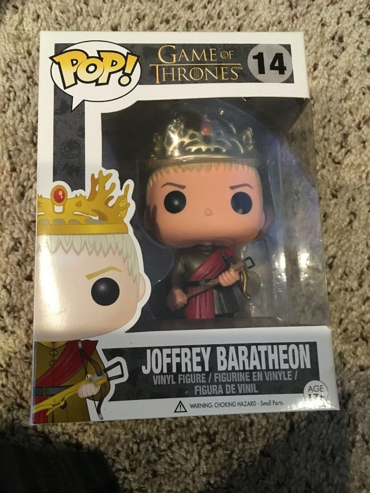 Diverdeimentoko pop  Joffrey Baratheon  14 gioco Of Thrones Rare AUTHENTIC gratuito PP  marca