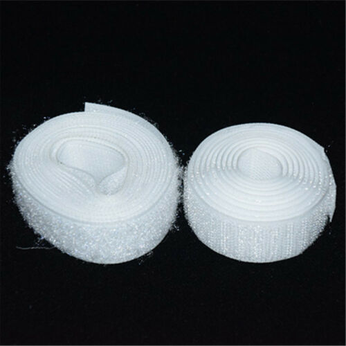 2M 25mm Not Self Adhesive Hook and Loop Tape Sew-On Craft Fastener Tape