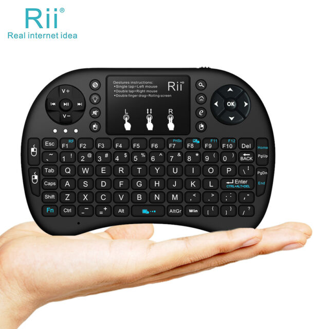 a2e99c61e19 Rii I8 Wireless Mini Keyboard Mouse Touchpad With Backlight for PC Smart TV  Ps4