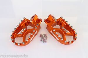 AIRTIME-CNC-BILLET-WIDE-FAT-FOOT-PEGS-KTM-EXC-XC-SX-SXF-125-530-1998-2015