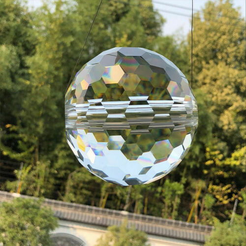 100 80 60MMRAINBOW CRYSTAL Ball Feng Shui Garden Window Decor SUNCATCHER