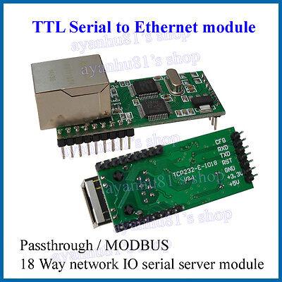 Ethernet toTTL RS232 Serial TTL to TCP / IP RJ45 Converter Transmission Module E