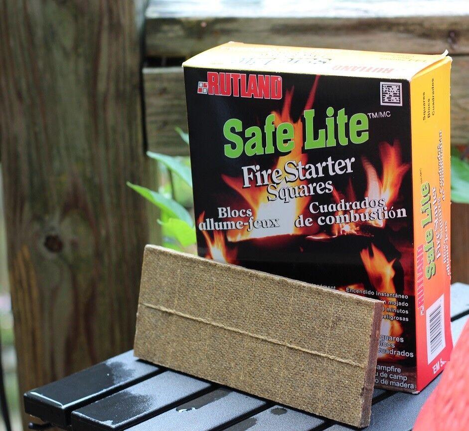 Rutland Safe Lite Fire Starter Squares 24 Ct Free Usa