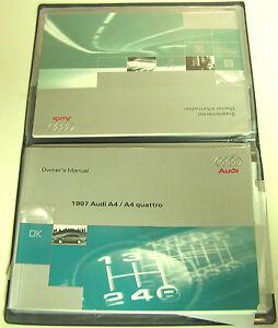 Audi-1997-A4-Quattro-Owner-039-s-Manual