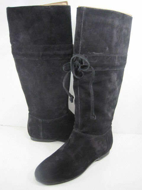 NINE WEST MENTRY BLACK SUEDE BOOT WOMENS US Size 7 New without Box