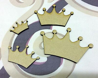 Wood Crown Craft Shape Wooden Blank Embellishment 2 3 4 5cm