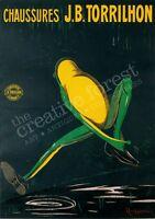 Chaussures J.b. Torrilhon Vintage Cappiello Advertising Canvas Print 24x33 In.