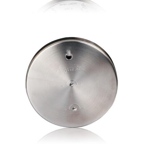 Boîtier en acier inoxydable Thermomètre Hygromètre intérieur maison Outdoor Weather Meter