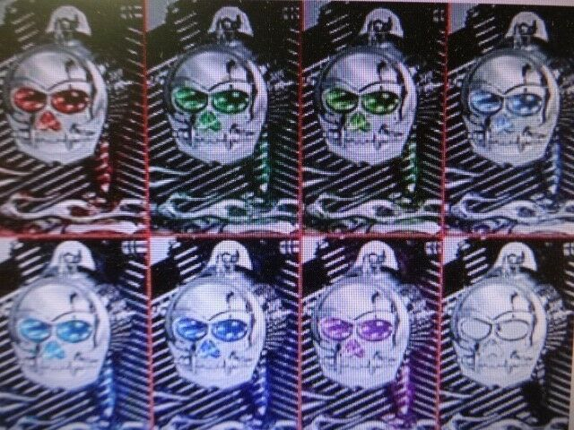 HARLEY CHROME INFINITY ZOMBIE LED HORN COVER MULTIPLE COLORS  KURYAKYN 7719