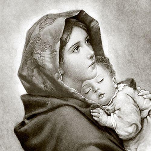 3 servilletas Madonna con Jesús Niño 33 x 33 cm decir vintage Design marienbildnis