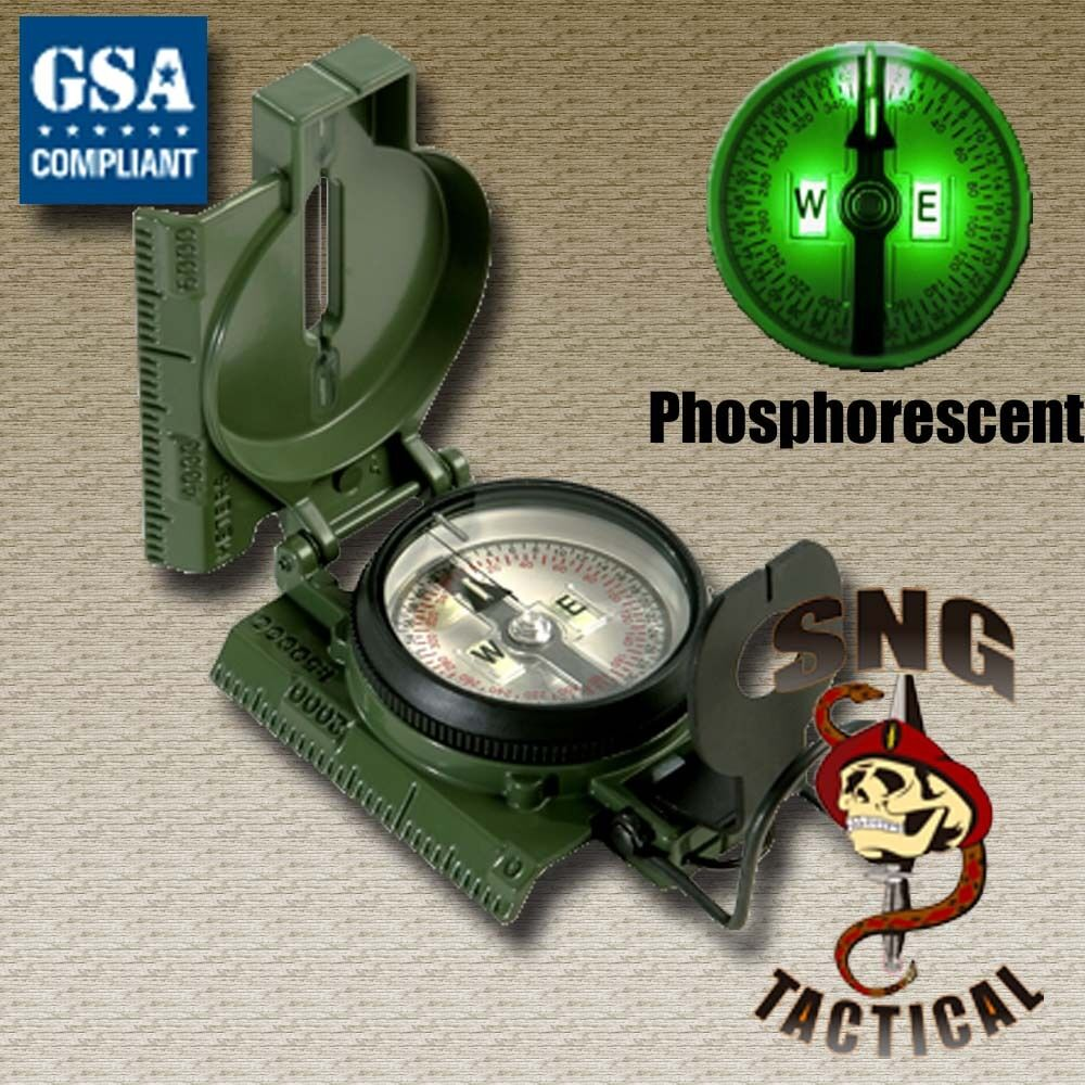 Cammenga  G.I. Military Phosphorescent Lensatic Compass (Model)  best quality