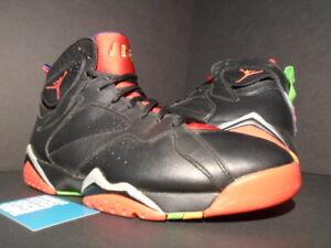 designer fashion 26aa0 4dd47 Details about Nike Air Jordan VII 7 Retro MARVIN THE MARTIAN BLACK RED  GREEN PULSE BRED OG 10