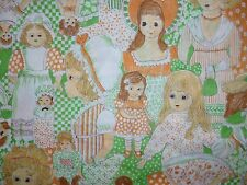 CLEARANCE FQ ANTIQUE OLD FASHIONED DOLLS  FABRIC