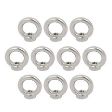 M5 Female Thread 304 Stainless Steel Ring Shaped Lifting Eye Nut 10pcs