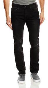Duck And Cover Hombre Arlequin Stretch Jeans Pantalones De Dril De Algodon Negro Delgado Conico Ebay