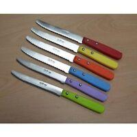 Lot De 6 Couteaux Saufax Plast Couleur Steack Table Micro Bout Rond Ref 80.6 Cod