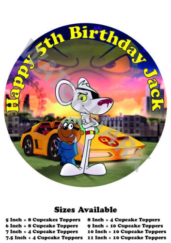 Danger Mouse Personalised Edible Wafer Icing Cake Topper Costco Any Size upto A3