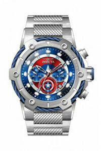 Invicta-Mens-Speedway-Marvel-Captain-American-Red-Blue-Dial-SS-Bracelet-Watch