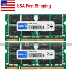 New-8GB-Kit-2x4GB-2Rx8-PC2-6400-DDR2-800Mhz-200Pin-SODIMM-Laptop-Memory-From-USA
