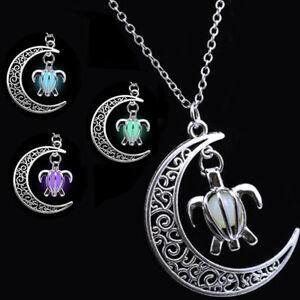 Collana-ciondolo-fluorescente-pendente-luminoso-pietra-luminosa-Luna-Tartaruga